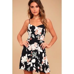 Lulu's Permission To Daydream Floral Skater Dress